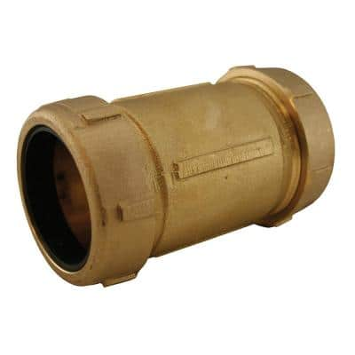 2 in. CTS Bronze Coated Brass Compression Coupling (5 in. Length) for Pipe Repair