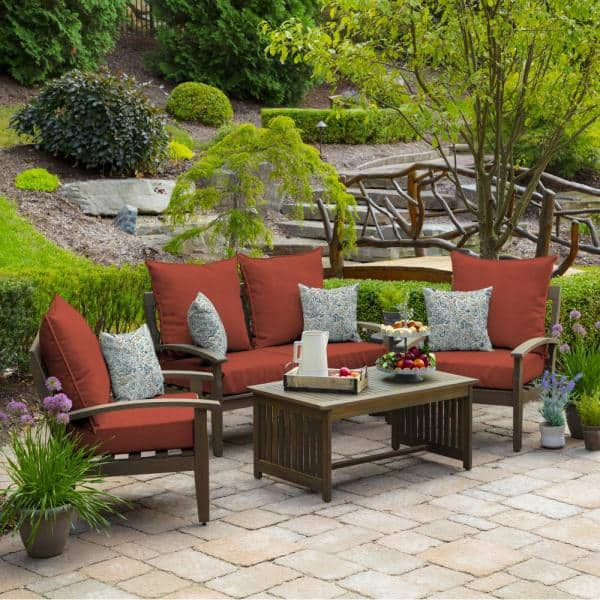 Arden Selections 24 In X 22 5 In Sedona Woven 2 Piece Outdoor Deep Seating Lounge Chair Cushion Xk03297b D9z1 The Home Depot