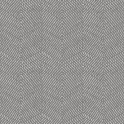Arrow Weave Charcoal Fabric Strippable Roll (Covers 57 sq. ft.)