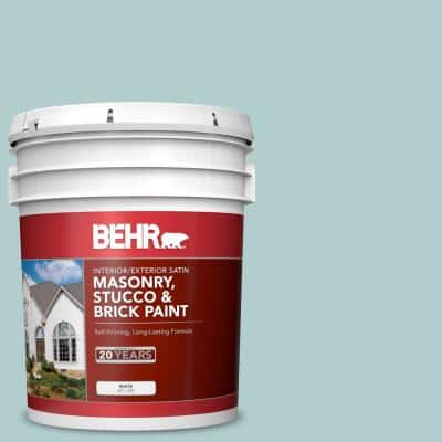 5 gal. #PPU13-15 Clear Pond Satin Interior/Exterior Masonry, Stucco and Brick Paint