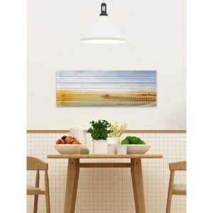 20 in. H x 60 in. W ''Malibu Pier'' by Parvez Taj Printed White Wood Wall Art
