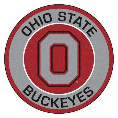 NCAA Ohio State University Gray 2 ft. x 2 ft. Round Area Rug