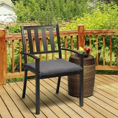 Oak Cliff 20 x 18 Sunbrella Cast Slate Outdoor Chair Cushion (2-Pack)
