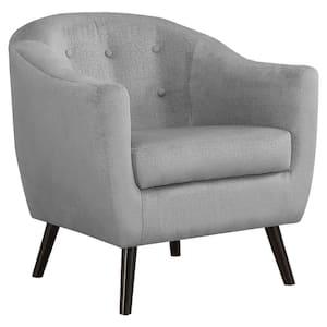 Grey Mosaic Velvet Accent Chair