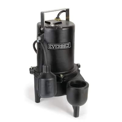 1/2 HP Cast Iron Sewage Ejector Pump