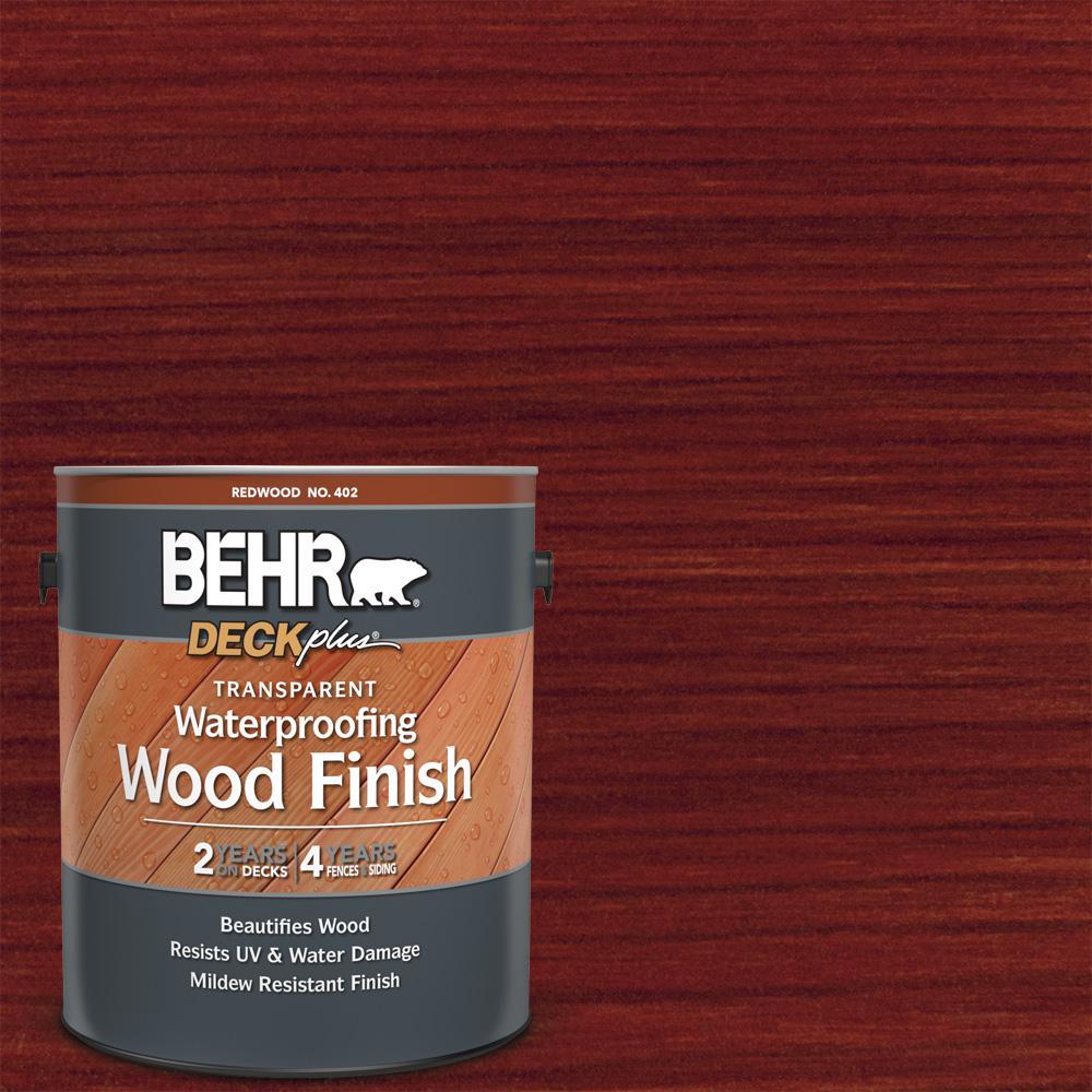1 gal. Redwood Transparent Waterproofing Exterior Wood Finish