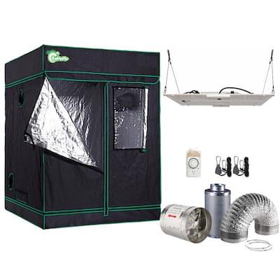 1000-Watt DE Equivalent Full Spectrum Horticulture Grow Light Fixture Daylight with Grow Tent and Ventilation System