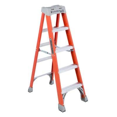5 ft. Fiberglass Step Ladder with 300 lbs. Load Capacity Type IA Duty Rating
