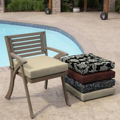 Taupe Leala Texture Square Outdoor Seat Cushion