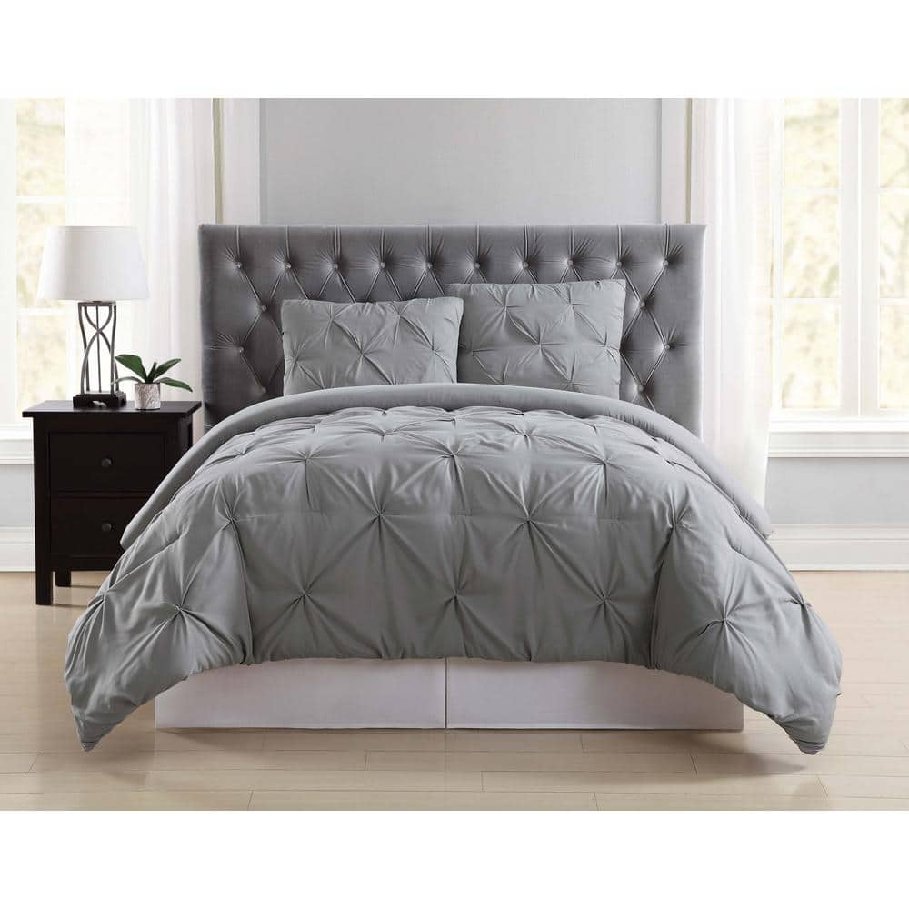 Truly Soft Everyday 3 Piece Grey Full Queen Duvet Cover Set Dcs1969gyfq 18 The Home Depot