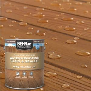 1 Gal. #ST-129 Chocolate Semi-Transparent Penetrating Oil-Based Exterior Waterproofing Wood Stain