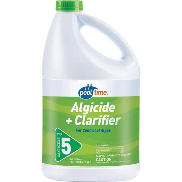 Pool Time 128 Oz Algicide And Clarifier 15128ptm The Home Depot