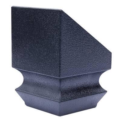 1-1/4 in. x 1-3/4 in. Plastic Satin Black Slip N Grip Angled Shoe