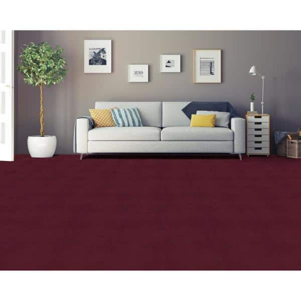 Achim Nexus Burgundy 12 In X 12 In Peel And Stick Carpet Tiles 12 Tiles Case Nxcrptbu12 The Home Depot