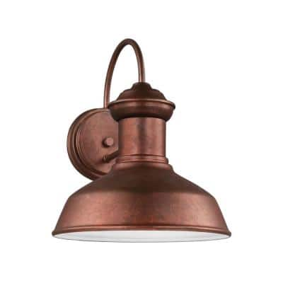 Fredricksburg 1-Light Weathered Copper Outdoor 11.9375 in. Wall Lantern Sconce
