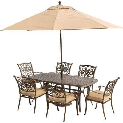 Patio Dining Sets, Outdoor Patio Table And Chairs With Umbrella Hole