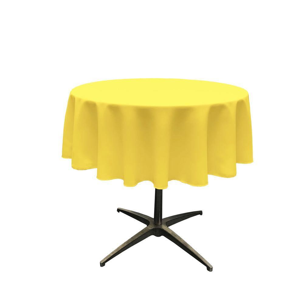 58 x 108 58 x 108 Polyester Poplin Rectangular Tablecloth Yellow