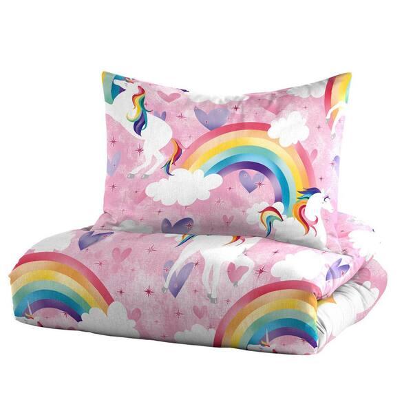 Dream Factory Unicorn 3 Piece Pink, Pink Unicorn Bedding Twin