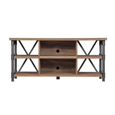 Irondale 54 in. Autumn Driftwood TV Stand Fits TVs Up to 60 in. with Cable Management