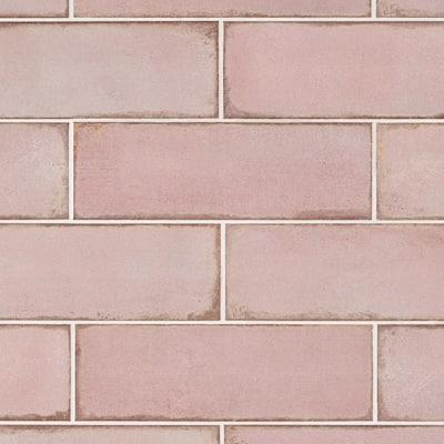 Santa Fe Rose 3.93 in. x 11.96 in. Polished Ceramic Wall Tile (10.76 sq. ft./Case)