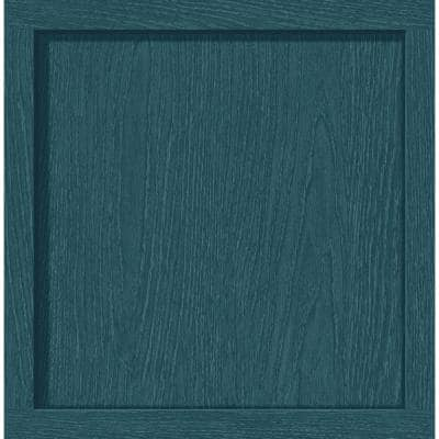 30.75 sq. ft. Teal Squared Away Vinyl Peel and Stick Wallpaper Roll