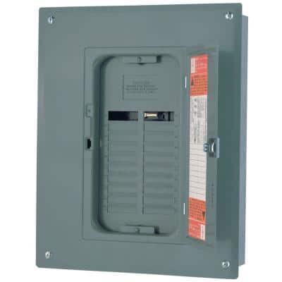 QO 125 Amp 20-Space 24-Circuit Indoor Main Lug Plug-On Neutral Load Center with Cover, Ground Bar