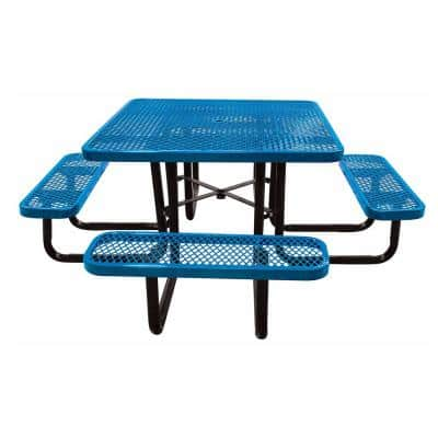 46 in. Blue Square Commercial Portable Picnic Table