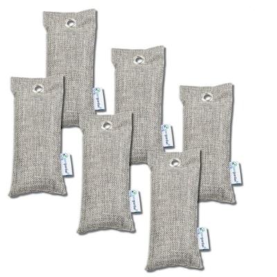 Air Purifying Bamboo Charcoal Bag, 2.6 oz (6-Pack)
