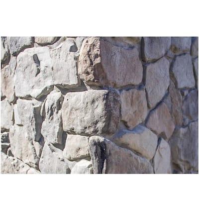 Easy Stack 1.5 in. to 4 in. x 5 in. to 7 in. x 3 in. Gray Hill Mortared on Concrete Ledge Stone Corner 6 lin. ft./box