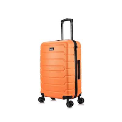 Trend 24 in. Orange Lightweight Hardside Spinner Suitcase