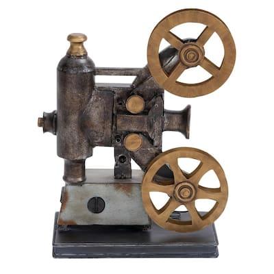 Vintage Movie Projector and Film Reels Metal Decor