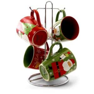 Santa Smile 15 oz. Holidays Mugs (Set of 4)
