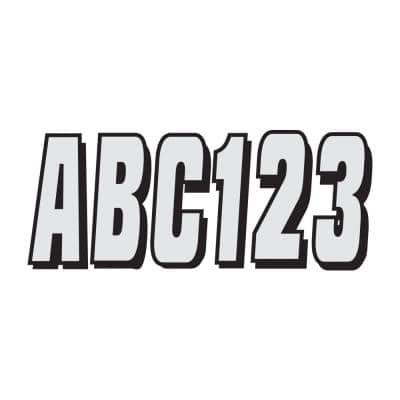 320 Series 3 in. Letter/Number Kit in Black/Silver