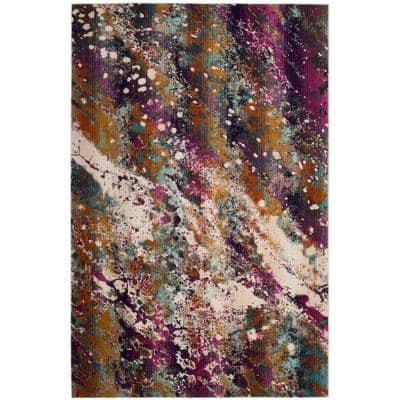 Purple Abstract Area Rugs Rugs The Home Depot