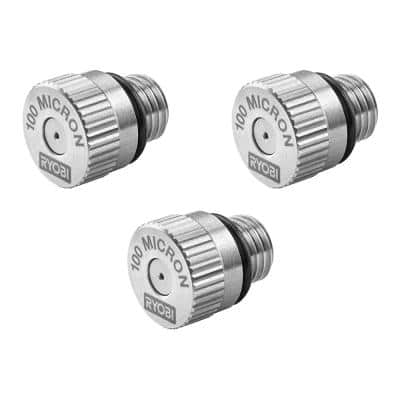 Electrostatic Sprayer 100 Micron Replacement Nozzle (3-Pack)