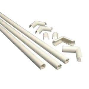 Wiremold CordMate Cord Cover Kit, Ivory