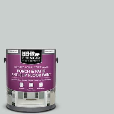 Behr Premium 1 Gal Pfc 61 Foggy Morn Textured Low Lustre Enamel Interior Exterior Porch And Patio Anti Slip Floor Paint 625001 The Home Depot