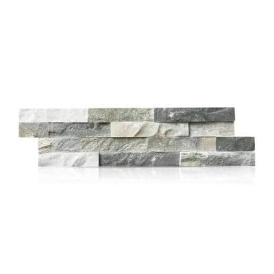 Sierra Blue 6 in. x 24 in. Natural Stacked Stone Veneer Panel Siding Exterior/Interior Wall Tile (2-Boxes/9.16 sq. ft.)