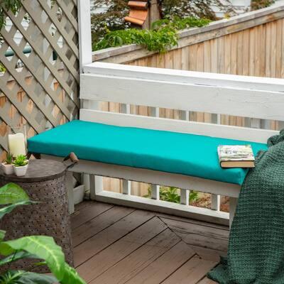 48 x 18 Sunbrella Canvas Aruba Outdoor Bench Cushion