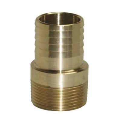 1 in. MPT x 1 in. Barb Brass Adapter Fitting