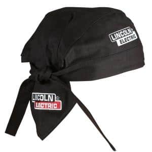 6 in. Fire Resistant Black Welding Doo Rag