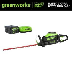 PRO 26 in. 60-Volt Battery Cordless Hedge Trimmer with 2.0 Ah Battery and Charger