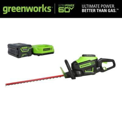 PRO 26 in. 60V Battery Cordless Hedge Trimmer with 2.0 Ah Battery and Charger
