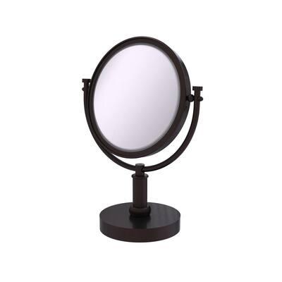 8 in. x 15 in. x 5 in. Vanity Top Makeup Mirror 5X Magnification in Antique Bronze