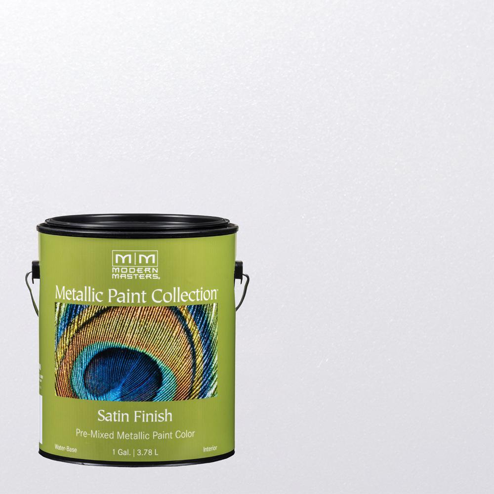 1 gal. Snowflake Water-Based Satin Metallic Interior Paint