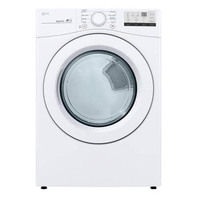 7.4 cu. ft. Smart White Electric Vented Dryer with Sensor Dry