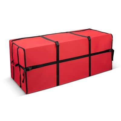 Red Waterproof Artificial Tree Storage Bag for Trees Up to 9 ft. Tall