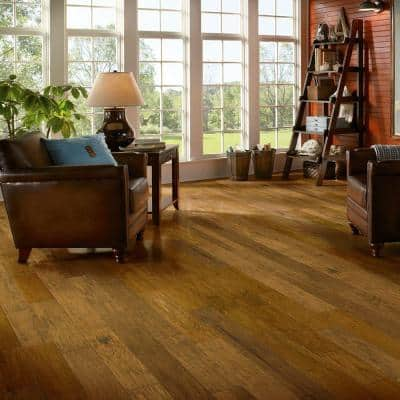 American Vintage Scraped Vermont Syrup 3/8 in. x 5 in. x Varying Length Engineered Hardwood Flooring (25 sq. ft./case)