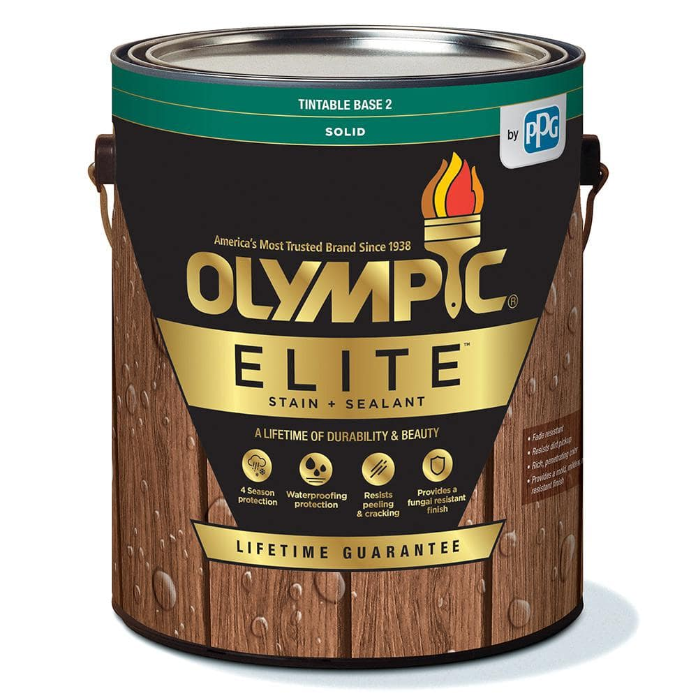 Olympic Elite 1 Gal Cape Sand Solid Advanced Exterior Stain And Sealant In One Olysc19 01 The Home Depot