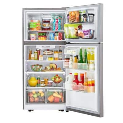 30 in. W 20.2 cu. ft. Top Freezer Refrigerator in Stainless Steel with Multi-Air Flow and Reversible Door